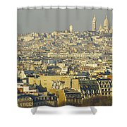Cityscape Of Paris Paris, France Shower Curtain by Ingrid Rasmussen