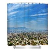 Cityscape Of Tuxtla Chiapas Shower Curtain