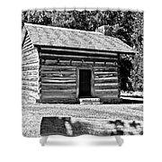 Civil War Cabin Shower Curtain
