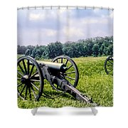 Civil War Cannons Shower Curtain