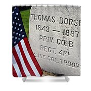 Civil War Colored Troop Shower Curtain
