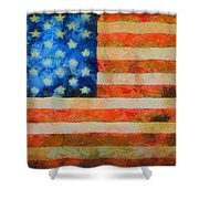 Civil War Flag Shower Curtain