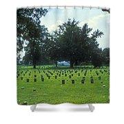 Civil War Gravesites Shower Curtain