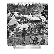 Civil War Hospital, 1860s Shower Curtain