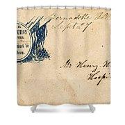 Civil War Letter 25 Shower Curtain