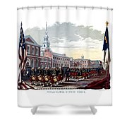 Civil War Philadelphia Zouave Corps Shower Curtain