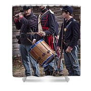 Civil War Reenactors With Drum And Fife Shower Curtain