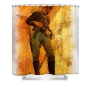 Civil War Soldier Photo Art Shower Curtain