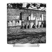 Civil War Wall Of Tombstones Savannah Georgia Shower Curtain