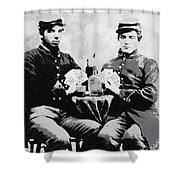 Civil War Whiskey And Cards  C. 1863 Shower Curtain