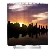 Calgary Sunset Skyline  Shower Curtain