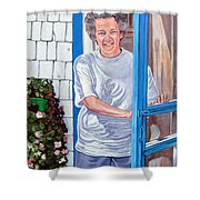 Claire Campbell Lewis Shower Curtain