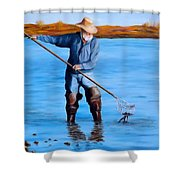 Clam Digger Shower Curtain