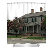Clapboard House Colonial Williamsburg Shower Curtain