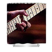 Clapton Playing Guitar - Watercolor Painting Shower Curtain