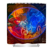 Clarity In The Midst Of Confusion Abstract Healing Art Shower Curtain