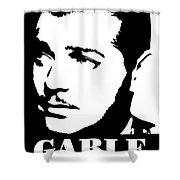 Clark Gable Black And White Pop Art Shower Curtain