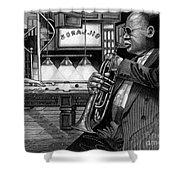 Jazz Clark Terry Shower Curtain