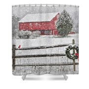 Clarks Valley Christmas 2 Shower Curtain