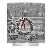 Clarks Valley Christmas 3 Shower Curtain by Lori Deiter