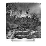 Clarksburg Falls 1833 Shower Curtain