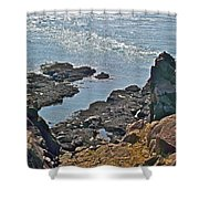Clashing Tides At Tip Of Cape D'or-ns Shower Curtain