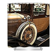 Classic 1928 Ford Model A Sport Coupe Convertible Automobile Car Shower Curtain