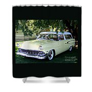 Classic 1956 Ford Ranch Wagon Shower Curtain by Charles Robinson
