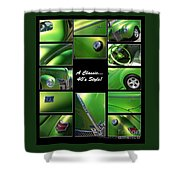 Classic 40s Style - Poster Shower Curtain