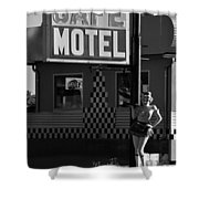 Classic 50s Motel Cafe Shower Curtain