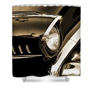 Classic '57 Chevy Bel Air In Sepia  Shower Curtain