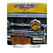 Classic New York City Cab - Detail Shower Curtain