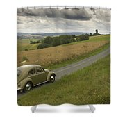 Classic Beetle 12 Shower Curtain