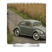 Classic Beetle  2 Shower Curtain