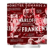 Classic Bride Of Frankenstein Poster Shower Curtain