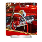 Classic Cadillac Beauty In Red Shower Curtain