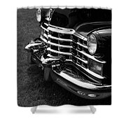 Classic Cadillac Sedan Black And White Shower Curtain