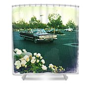 Classic Car Family Outing Shower Curtain