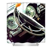 Classic Car Odometer Shower Curtain