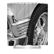 Classic Car Reflections - Training Wheels -179bw Shower Curtain