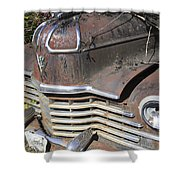 Classic Car With Rust Shower Curtain