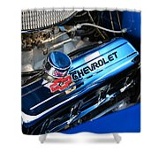 Classic Chevy Power Plant Shower Curtain