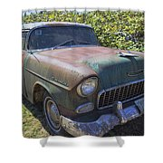 Classic Chevy With Rust Shower Curtain