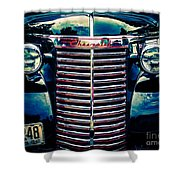 Classic Chrome Grill Shower Curtain