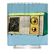 Classic Clock Radio Shower Curtain