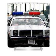 Classic Cop Car Shower Curtain