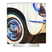 Classic Corvette Palm Springs Shower Curtain