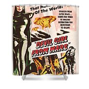 Classic Devil Girl From Mars Poster Shower Curtain