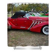 Auburn 1936 Roadster Classic Elegance Shower Curtain