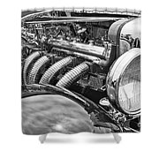 Classic Engine - Classic Cars At The Concours D Elegance. Shower Curtain